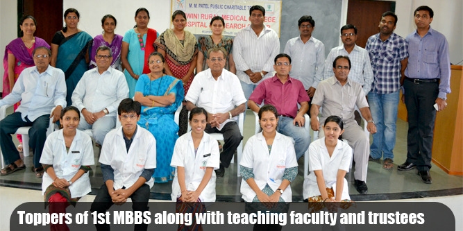 Toppers of 1st MBBS in Solapur District